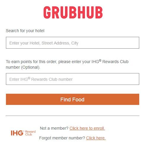 Collect IHG points withGrubhub